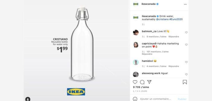 Ikea s'amuse aux dépends de Coca-Cola après la conférence de presse de Cristiano Ronaldo